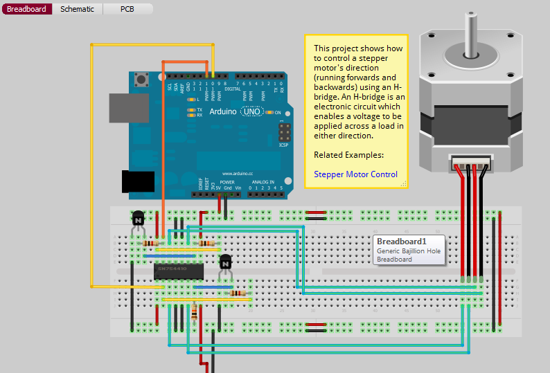 Unipolar Driver Circuit For Stepper Motor